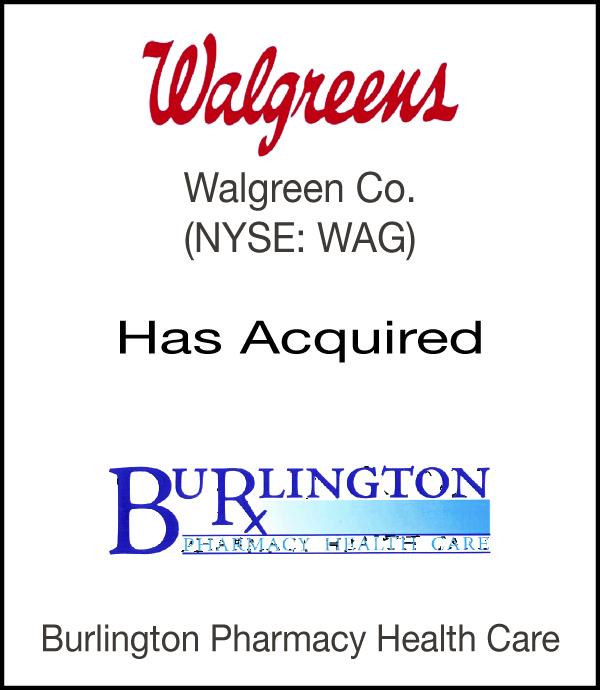 Burlington Pharmacy Tombstone
